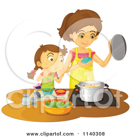 Cooking clipart cartoon. Mom free clip art