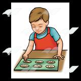 Abeka clip art cookies. Baking clipart boy