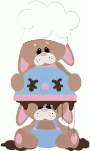 Pin by shimon elgin. Baking clipart bunny
