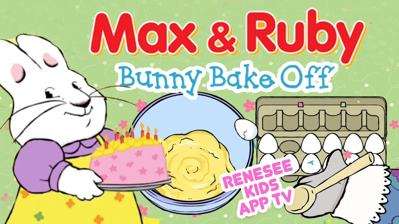Cooking with max ruby. Baking clipart bunny