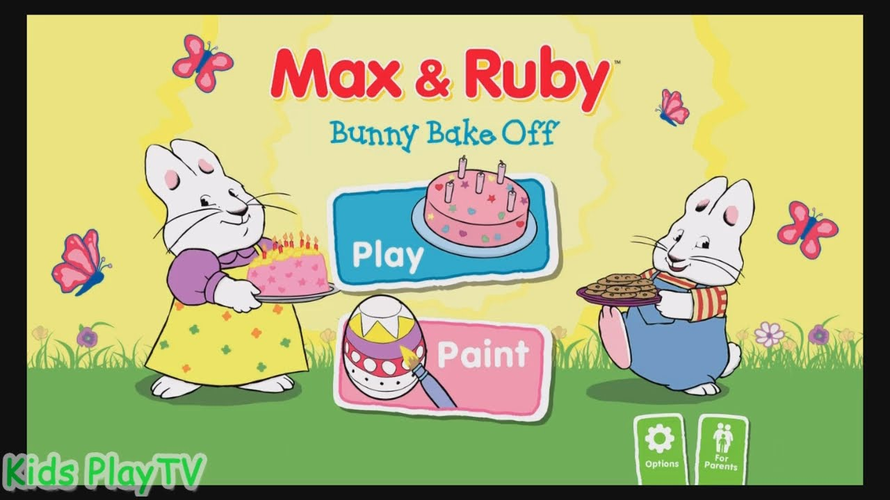 Max ruby bake off. Baking clipart bunny