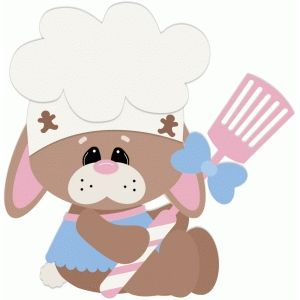With spatula silhouette design. Baking clipart bunny
