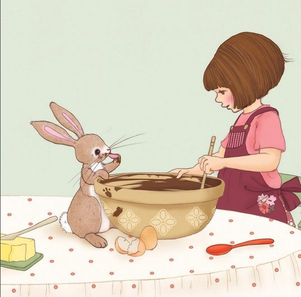 best illustration images. Baking clipart bunny