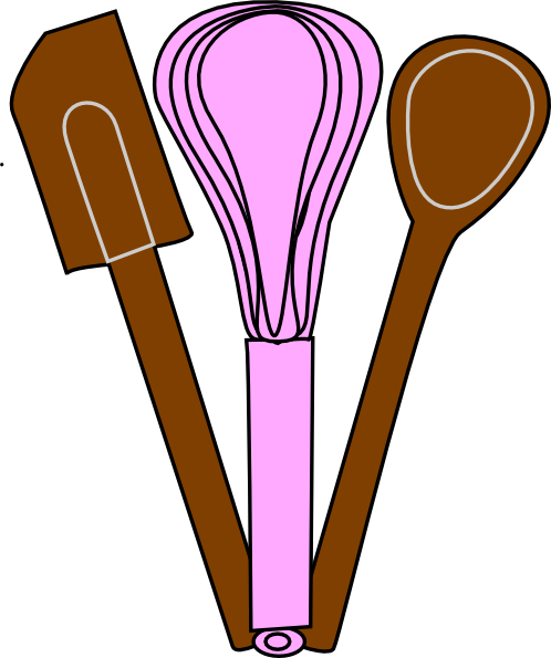Utensils clip art at. Baking clipart cartoon