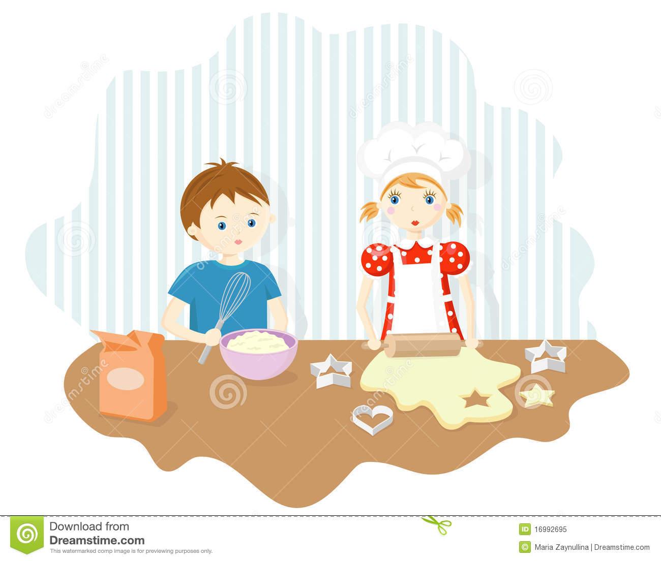 Baking clipart cartoon. Boy