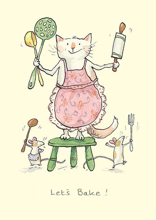 Baking clipart cat.  best anita jeram