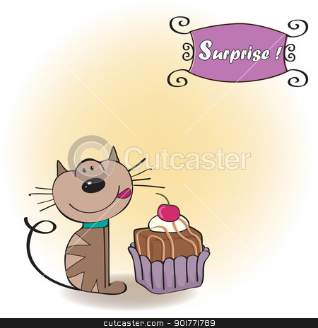Baking clipart cat. Pencil and in color