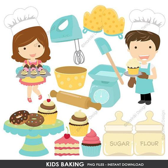 Clip art kids kitchen. Baking clipart child