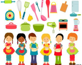 Cooking school clip art. Baking clipart child