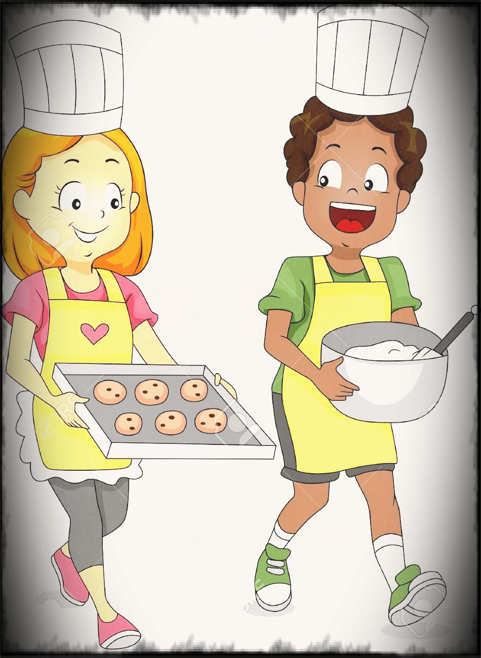 Baking clipart child. Pin the kitchen pencil