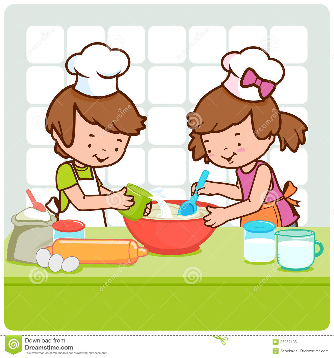 Chip clipart kid. Kids baking panda free
