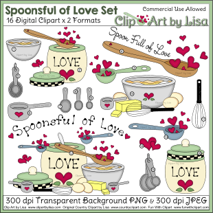 Baking clipart cooking baking. Kitchen and food sets