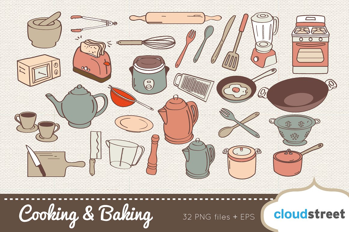 And illustrations creative market. Baking clipart cooking baking