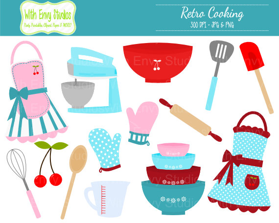 Apron clipart cooking.  off baking retro