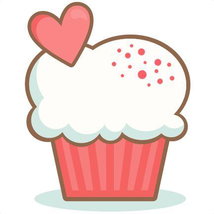 Cupcake clipart heart.  best clip art