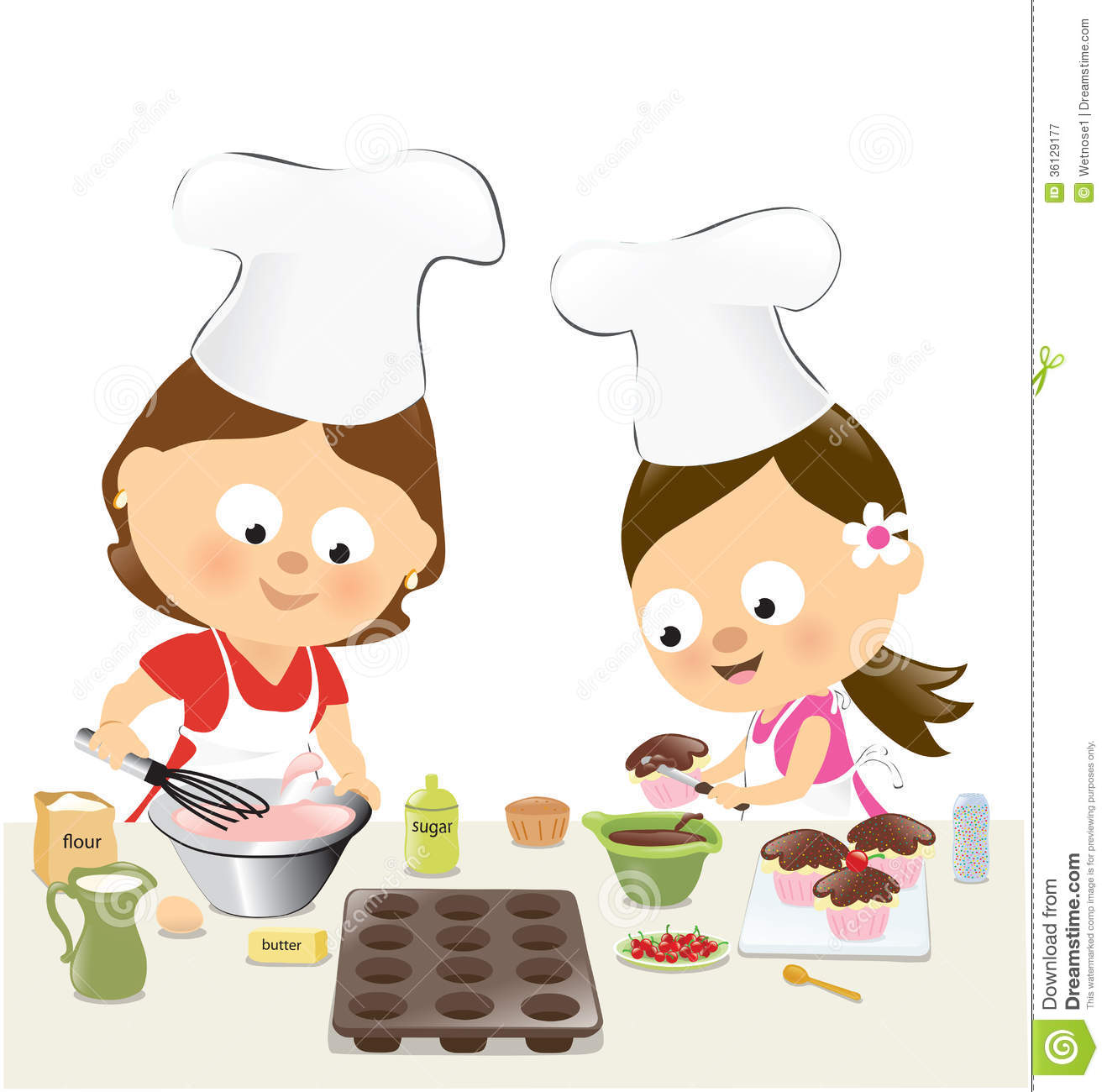 Baking Cupcakes Clipart