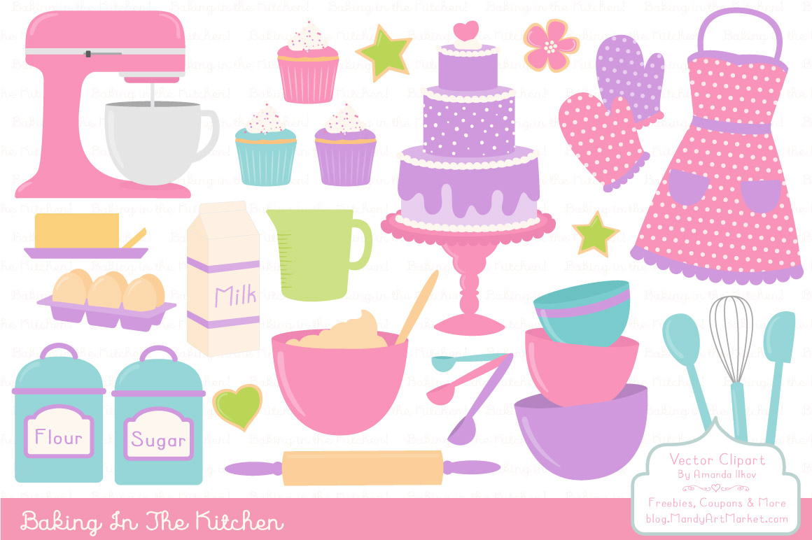 Vector in fresh by. Baking clipart cute