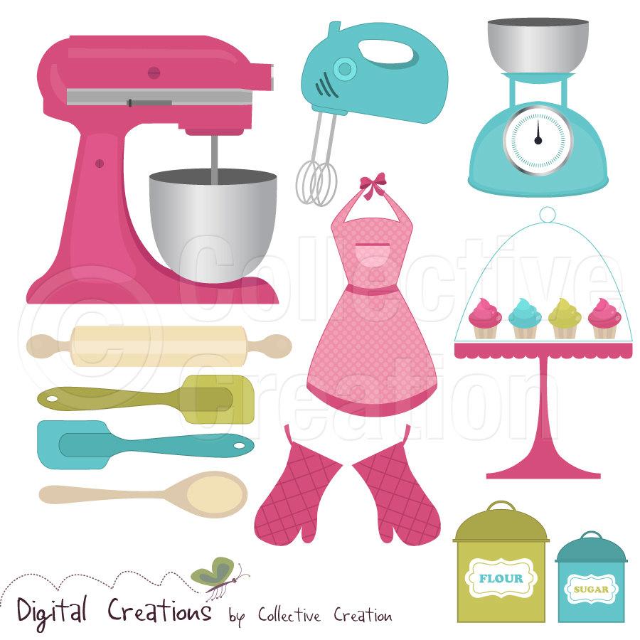 Baking clipart cute. Utensils free