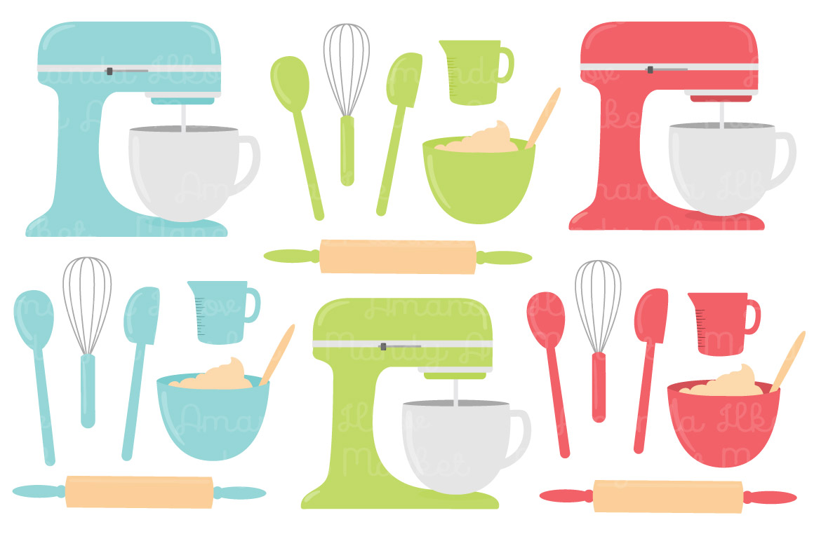Bakery clipart spoon. Vector baking in fresh