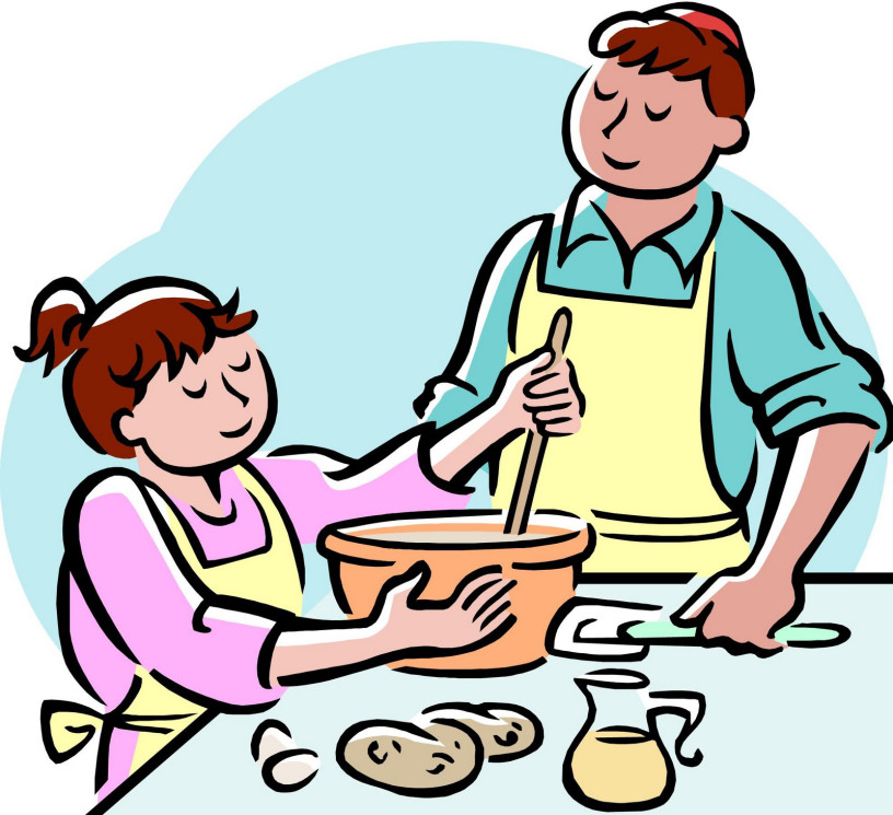 Cooking english is cool. Baking clipart dad