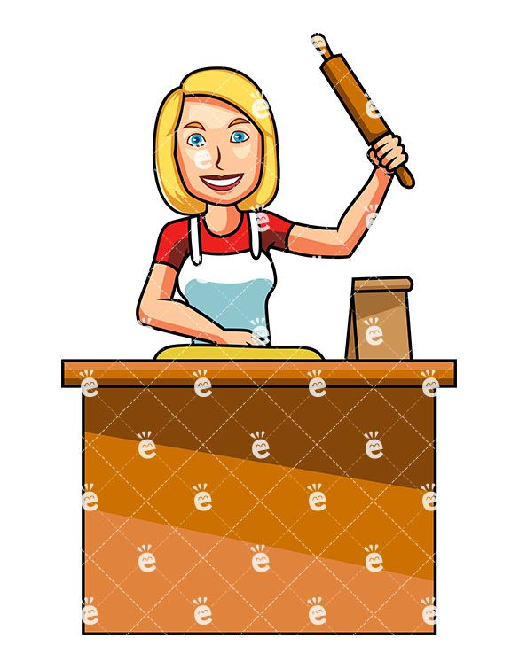 best cooking images. Baking clipart female
