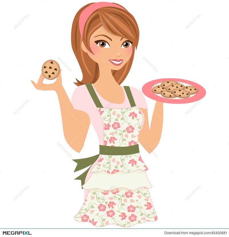 Woman illustration megapixl. Baking clipart female