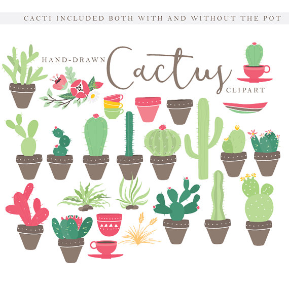 Cactus clip art hand. Baking clipart flower