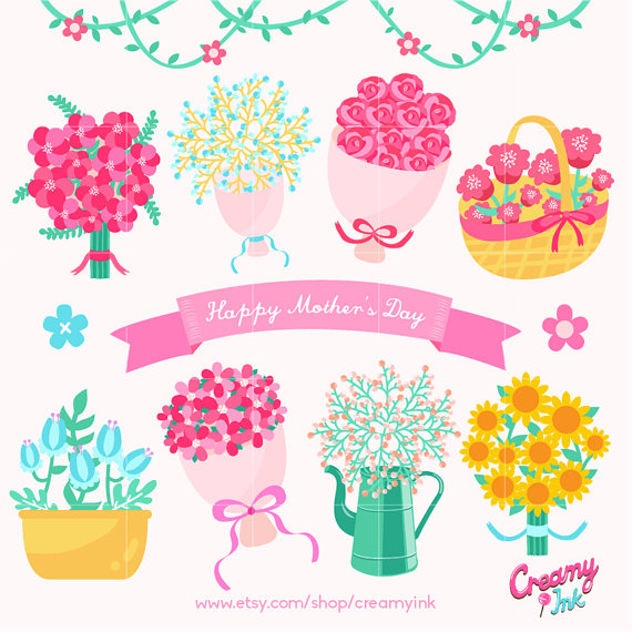 Baking clipart flower. Happy mother s day