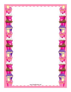 Baking clipart frame. Birthday kids can use