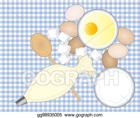 Baking clipart home baking. Vector art drawing gg