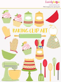 Baking clipart home baking. Kitchen cook clip art