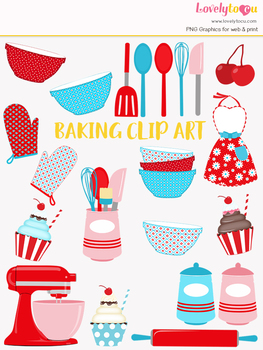 Kitchen cook clip art. Baking clipart home baking
