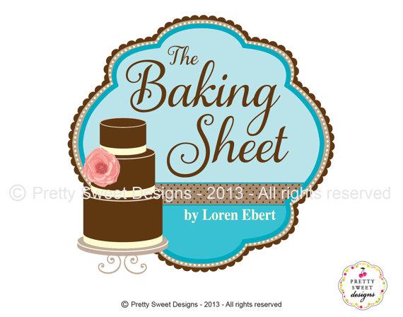 Cake design for bakery. Baking clipart logo
