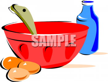 Food picture of eggs. Baking clipart mixing bowl