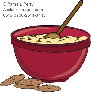 Clip art illustration of. Baking clipart mixing bowl