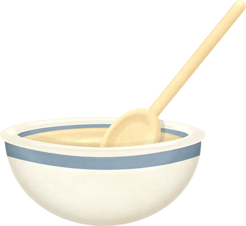 And wooden spoon mutfak. Baking clipart mixing bowl