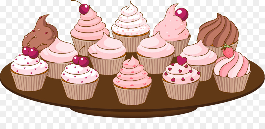 Cupcake frosting icing clip. Baking clipart muffin