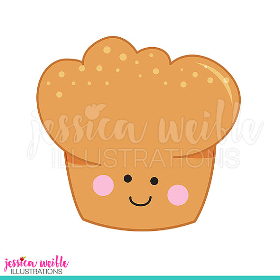 Baking clipart muffin. Happy cute digital clip