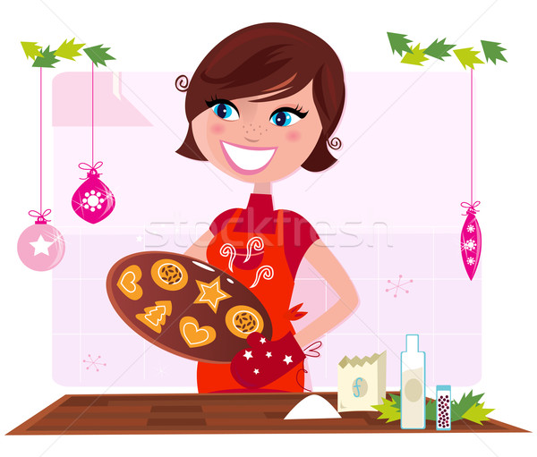 Baking clipart mum. Mom stock vectors illustrations