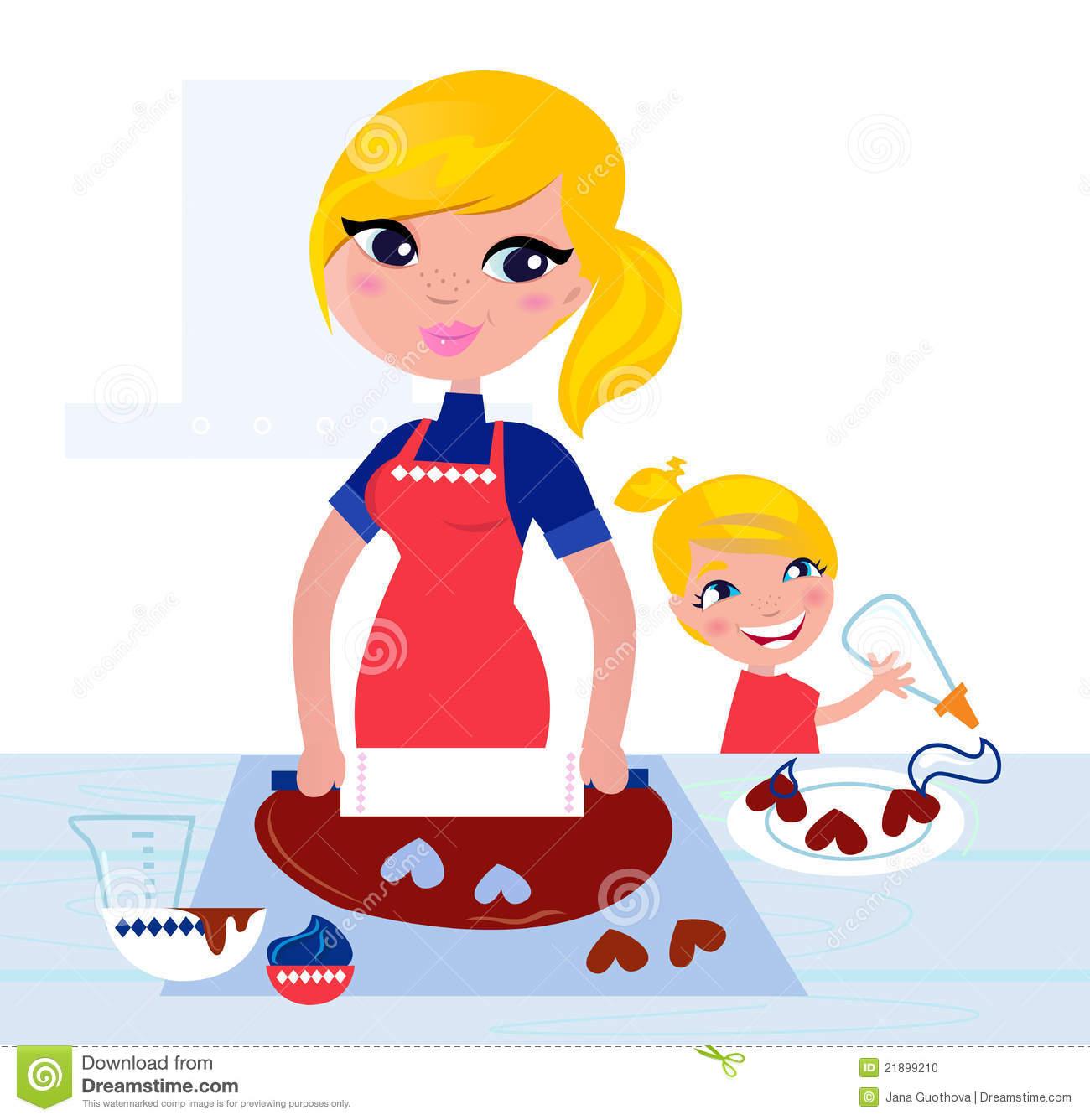 Baking clipart mum. Mom