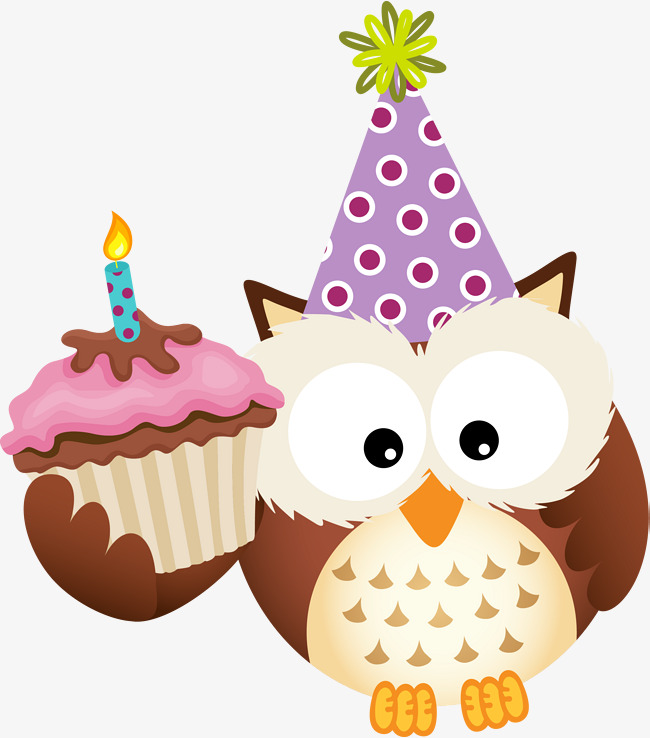 Cartoon brown png image. Baking clipart owl