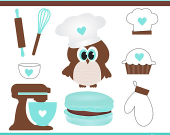 Owls etsy cliparts personal. Baking clipart owl
