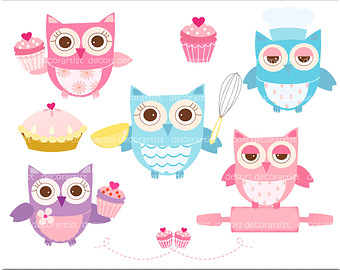 Cooking pencil and in. Baking clipart owl