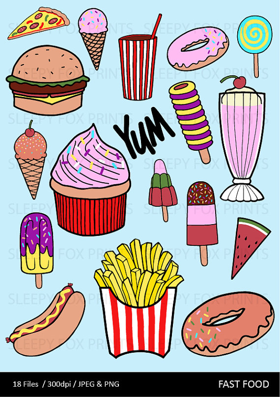 Burger clipart pizza burger. Fast food clip art