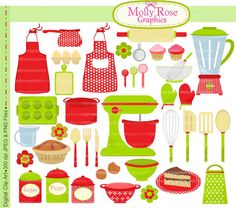 Baking clipart scrapbook. Cooking clip art digital