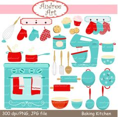 Set mitten mixer whisk. Baking clipart scrapbook