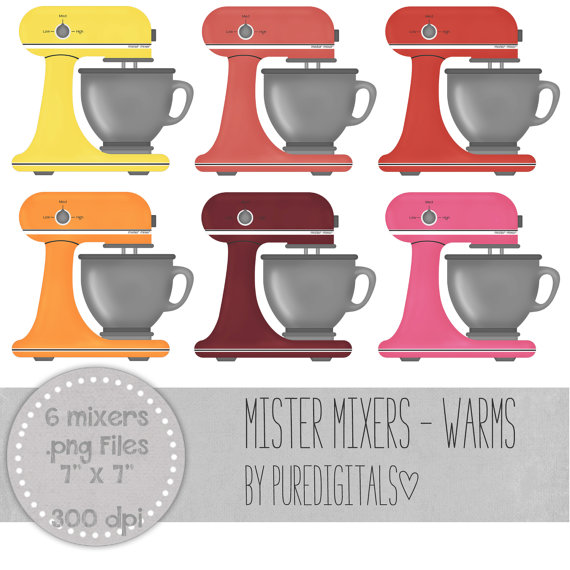 Electric mixer clip art. Baking clipart scrapbook