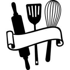 Kitchen utensils svg s. Baking clipart silhouette