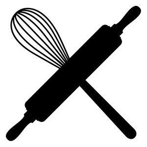 Design store view logo. Baking clipart silhouette