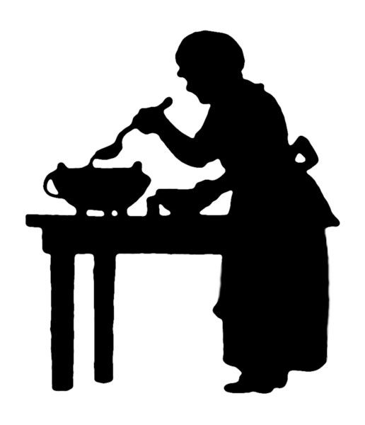 Baking clipart silhouette.  best food stencils